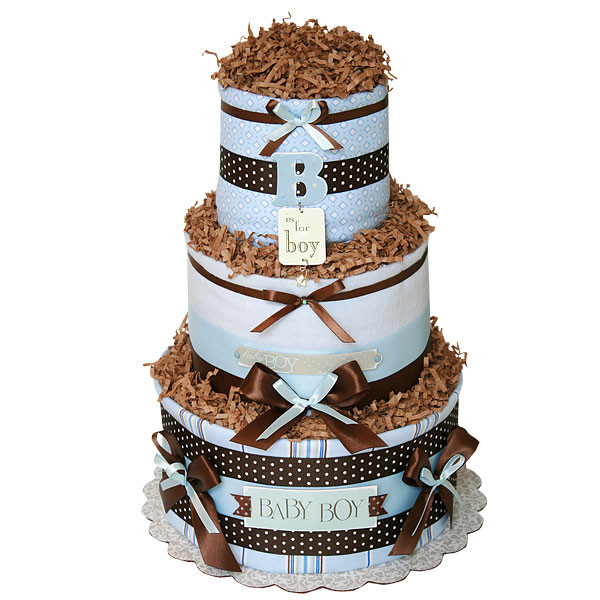 """Diaper Cakes for Boys Best Of Simple """"b"""" for Boy Diaper Cake Of Brilliant 46 Photos Diaper Cakes for Boys"""