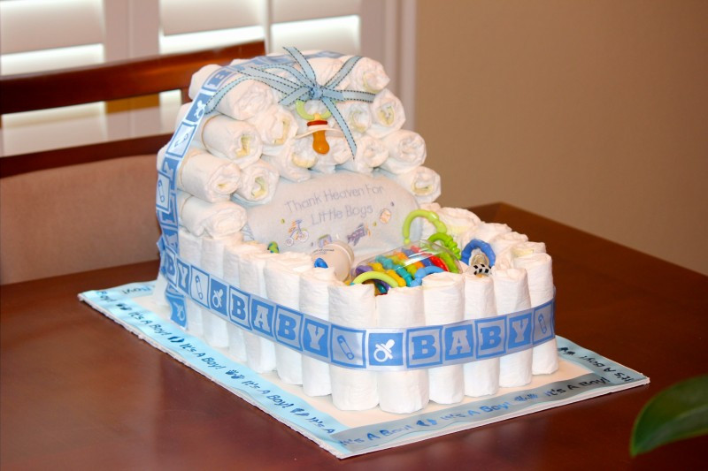 Diaper Cakes for Boys Elegant Baby Boy Shower Centerpieces for Tables that Will Be the Of Brilliant 46 Photos Diaper Cakes for Boys