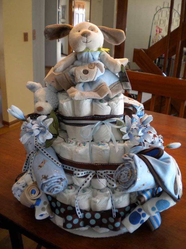 Diaper Cakes for Boys Fresh Little Boys Love Puppy Dog Diaper Cake theme Of Brilliant 46 Photos Diaper Cakes for Boys
