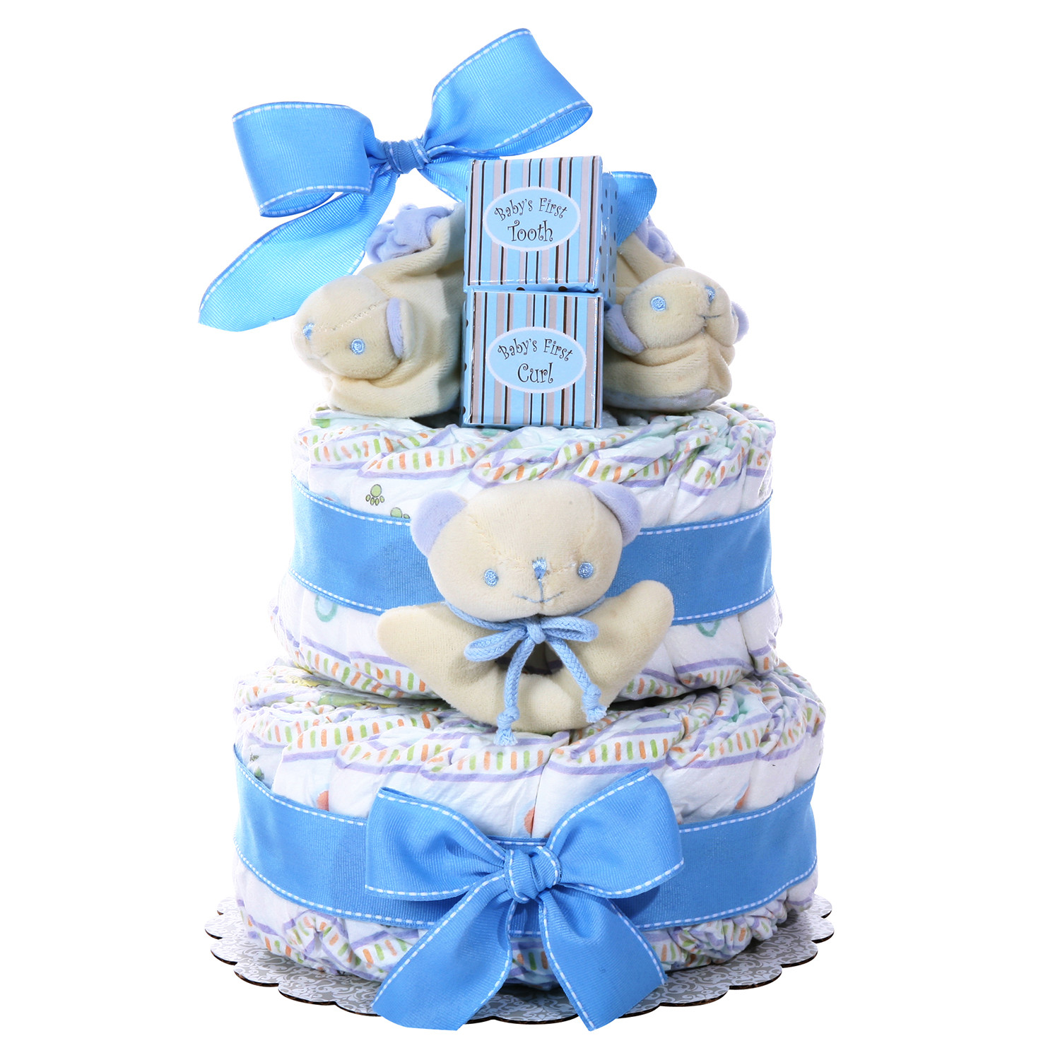 Diaper Cakes for Boys Inspirational Two Tier Diaper Cake Boy S Baby Gift Of Brilliant 46 Photos Diaper Cakes for Boys