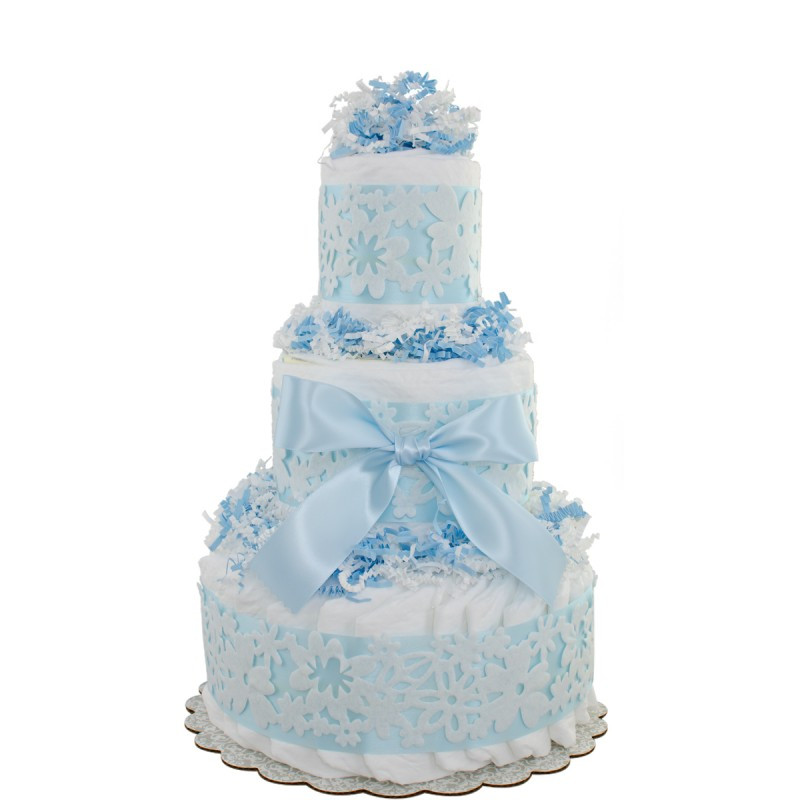 Diaper Cakes for Boys Luxury Blue Lace 3 Tier Diaper Cakes Of Brilliant 46 Photos Diaper Cakes for Boys