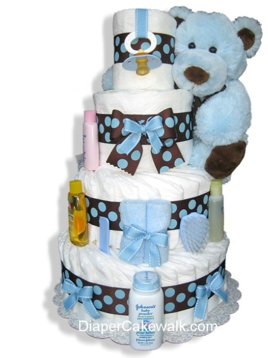 Diaper Cakes for Boys New Brown & Blue 4 5 Tier Diaper Cake at Best Prices Of Brilliant 46 Photos Diaper Cakes for Boys