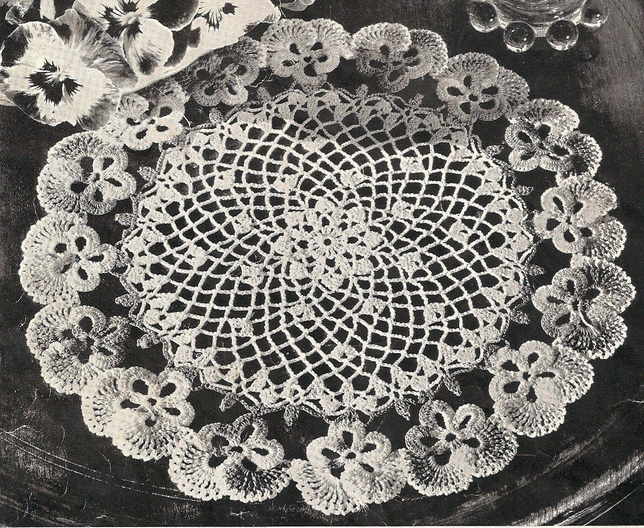 Doilies Lovely Pansy Crochet Pattern Patterns Of Adorable 44 Pics Doilies