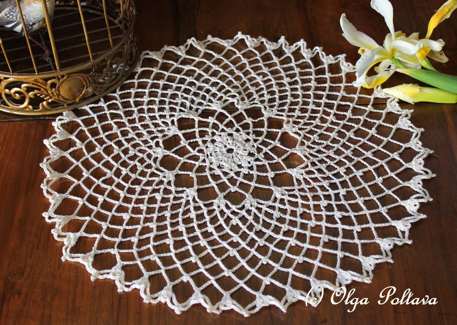 Lacy Crochet Clusters Chains and Picots Doily My Free