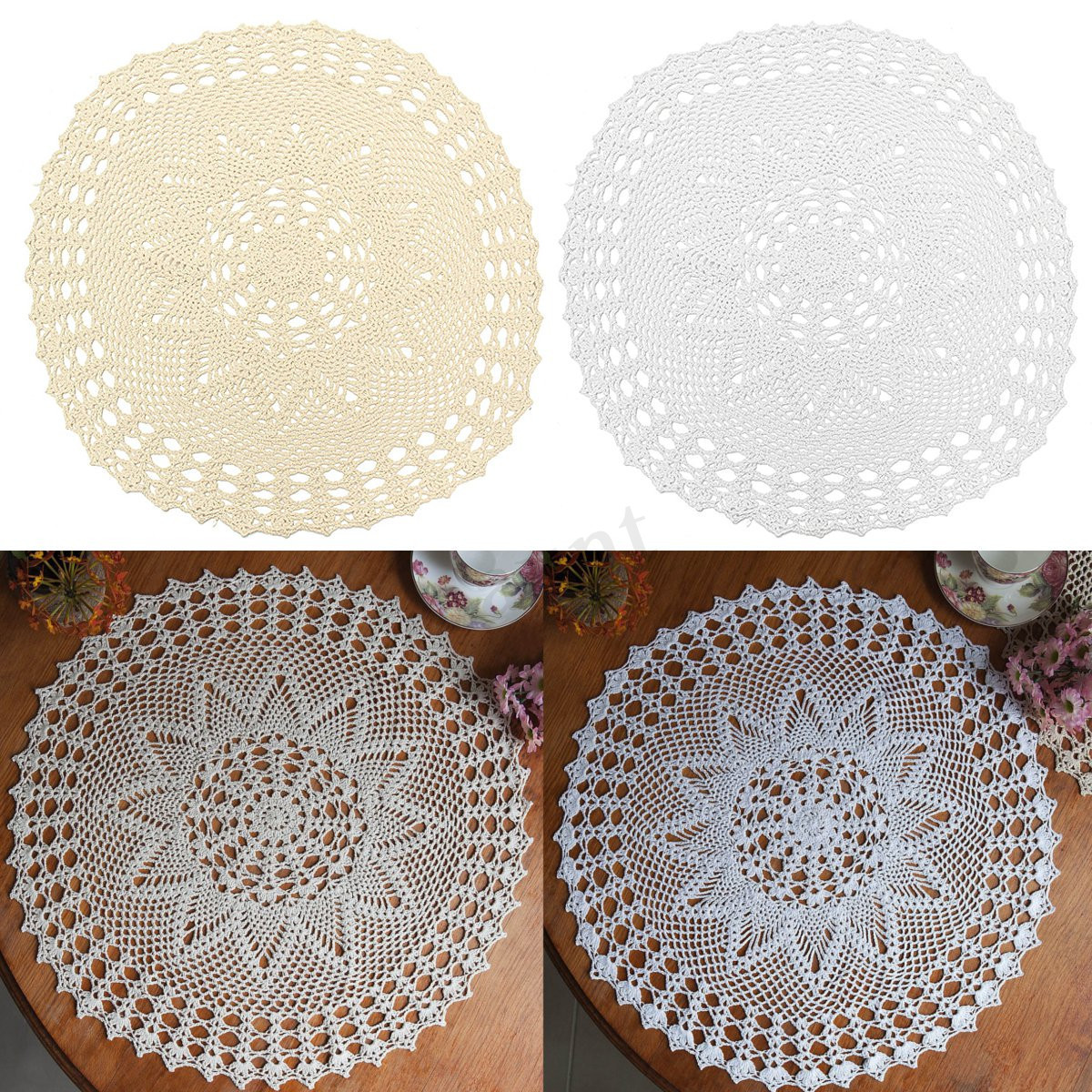 Doily Crafts Awesome Hand Crocheted Cotton Yarn Round Lace Doily Mat Vintage Of Contemporary 47 Photos Doily Crafts