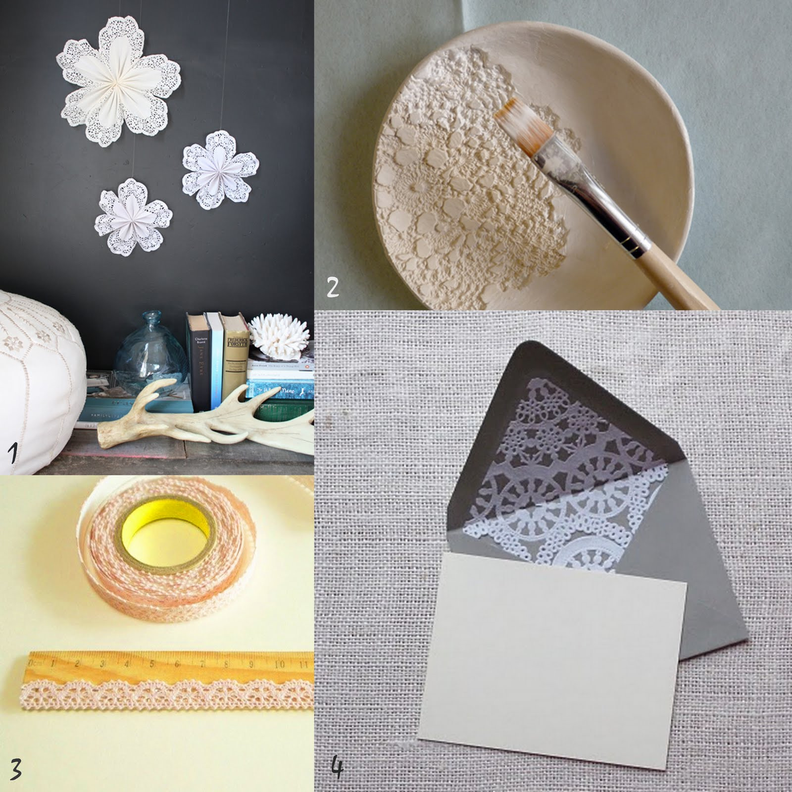 Oh the lovely things DIY Roundup Lace and Doilies