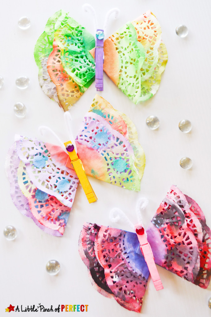 Doily Crafts Elegant Beautiful Painted butterfly Doily Craft for Kids Of Contemporary 47 Photos Doily Crafts