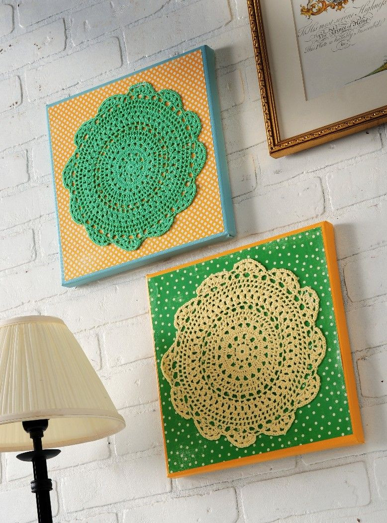 Doily Crafts Elegant Make Colorful Doily Wall Art Dollar Store Crafts Of Contemporary 47 Photos Doily Crafts