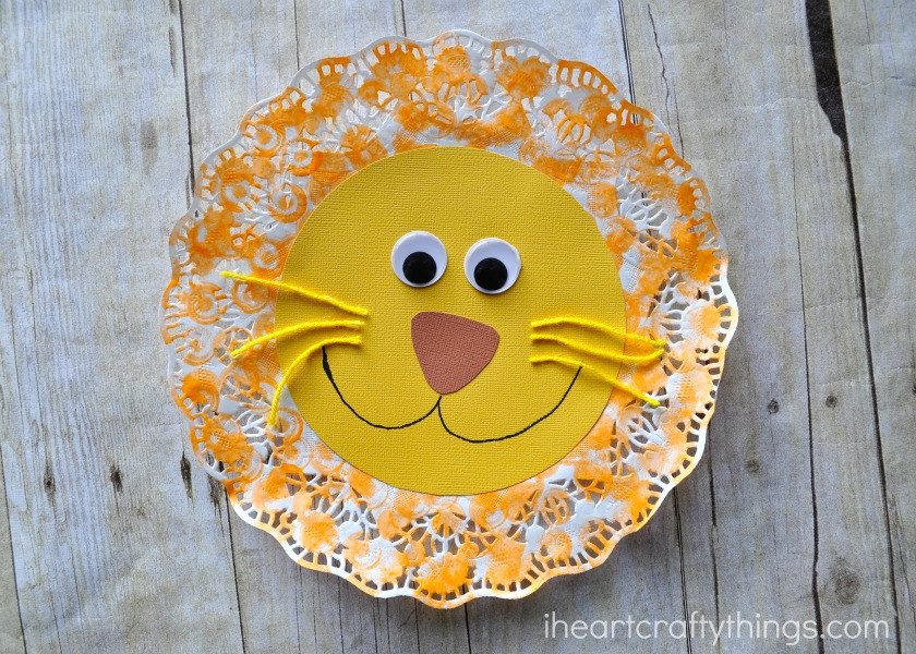 Doily Crafts Inspirational Doily Lion Kids Craft Of Contemporary 47 Photos Doily Crafts