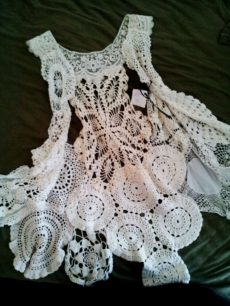 """Doily Crafts Lovely Createcreatively """" Old Doilies Pieced to Her Into A Of Contemporary 47 Photos Doily Crafts"""
