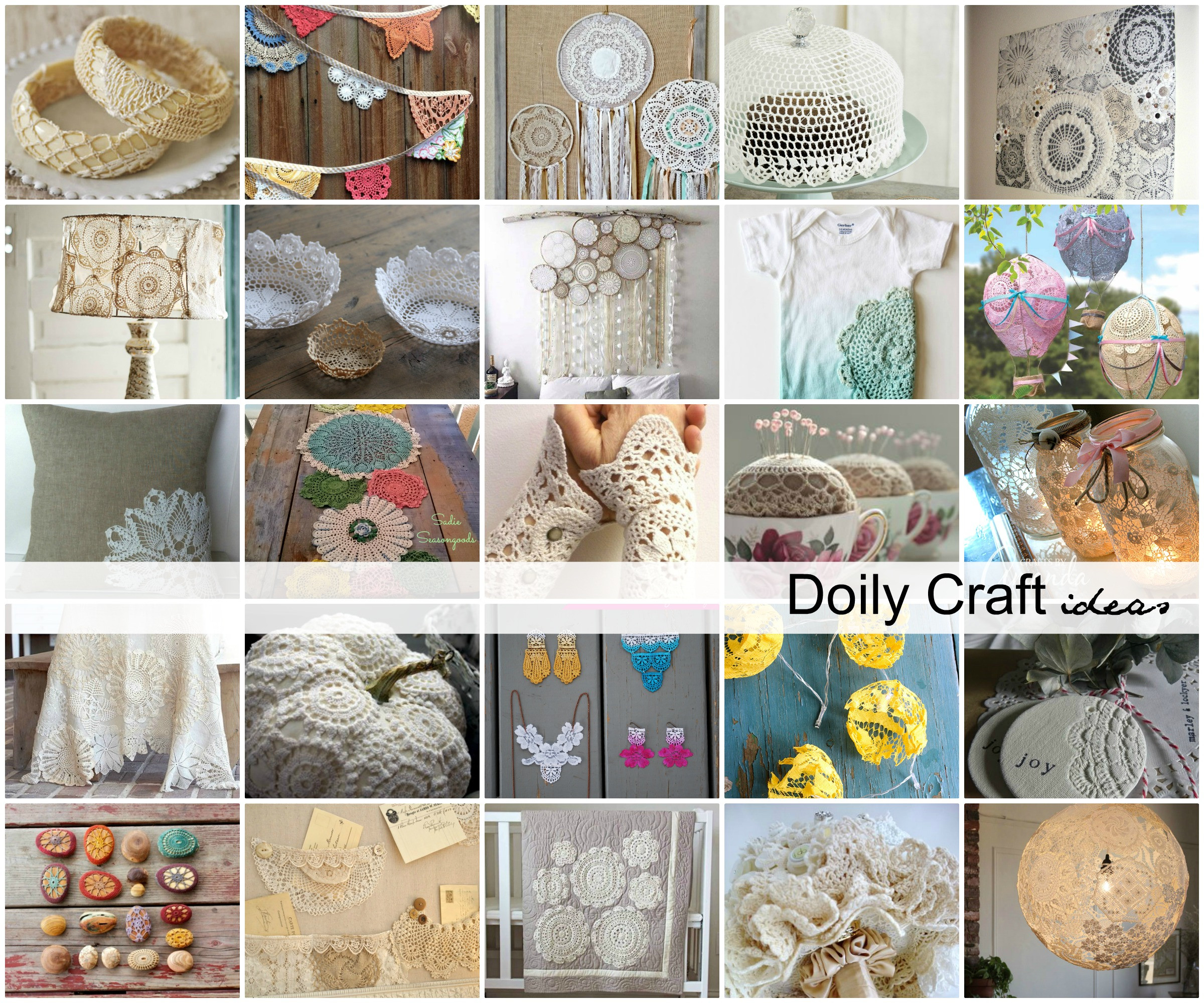 Doily Crafts Lovely Diy Doily Craft Ideas the Idea Room Of Contemporary 47 Photos Doily Crafts