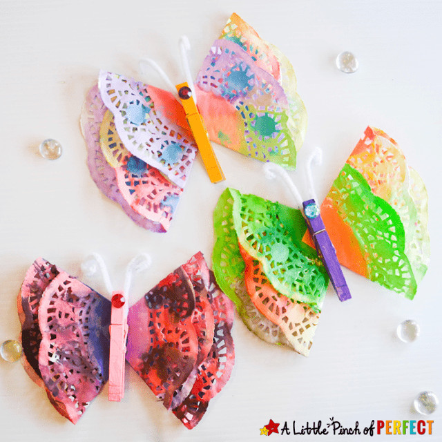 Doily Crafts Unique Hello Wonderful 13 Colorful butterfly Crafts for Kids Of Contemporary 47 Photos Doily Crafts