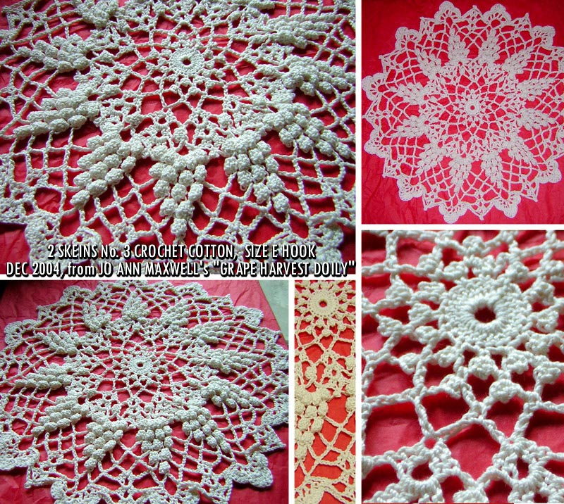 grapes doily crochet pattern