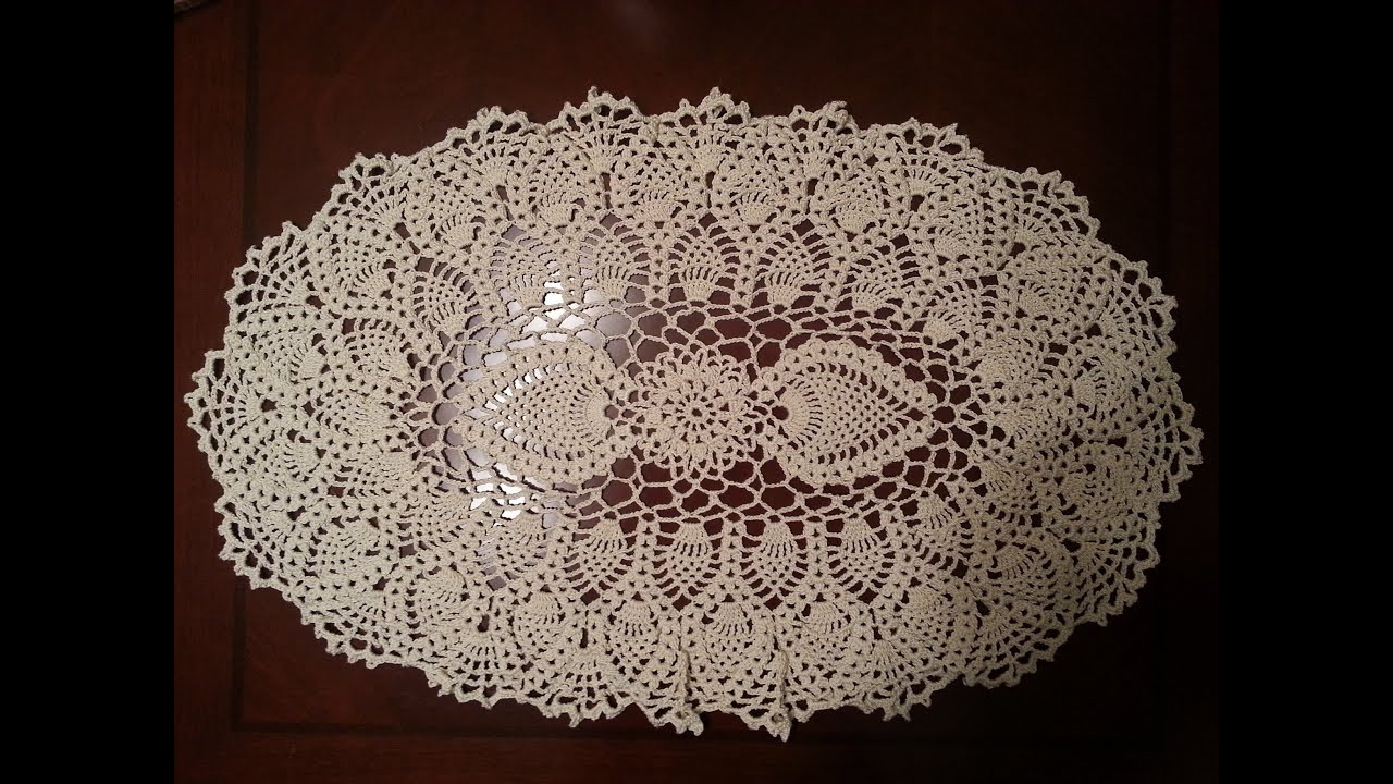 Doily Patterns Fresh Crochet Doily Oval Pineapple Doily Part 1 Of Innovative 50 Models Doily Patterns