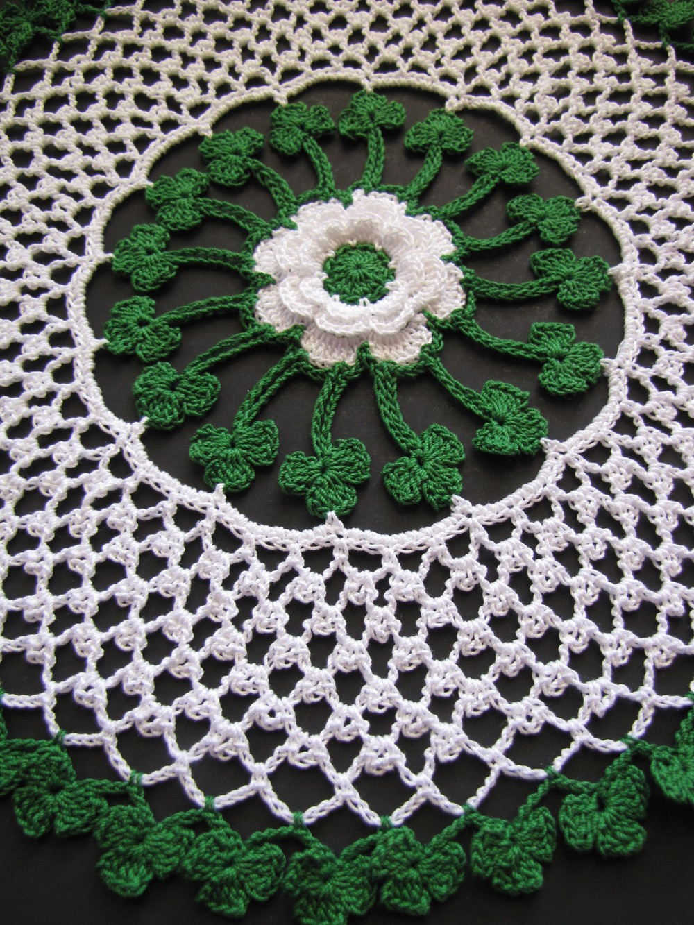 Irish Blessings Crochet Doily