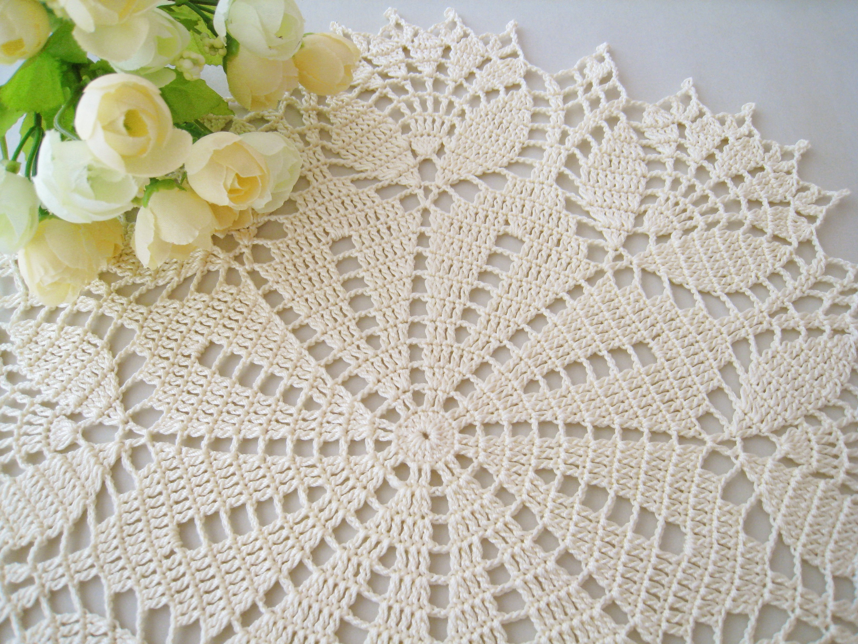 Doily Tablecloth Beautiful Dosymphony Crochet Doily Cream Tulip Flower Lace Of Charming 49 Pictures Doily Tablecloth
