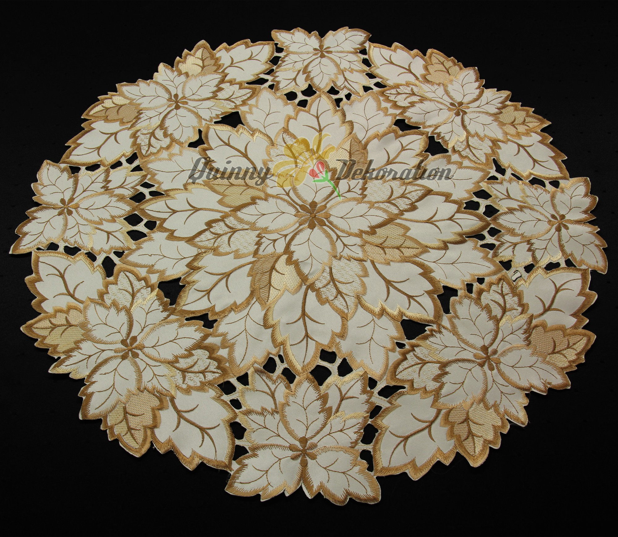 Doily Tablecloth Best Of Leaf Doily Tablecloth Table Runner topper Cream Brown Of Charming 49 Pictures Doily Tablecloth
