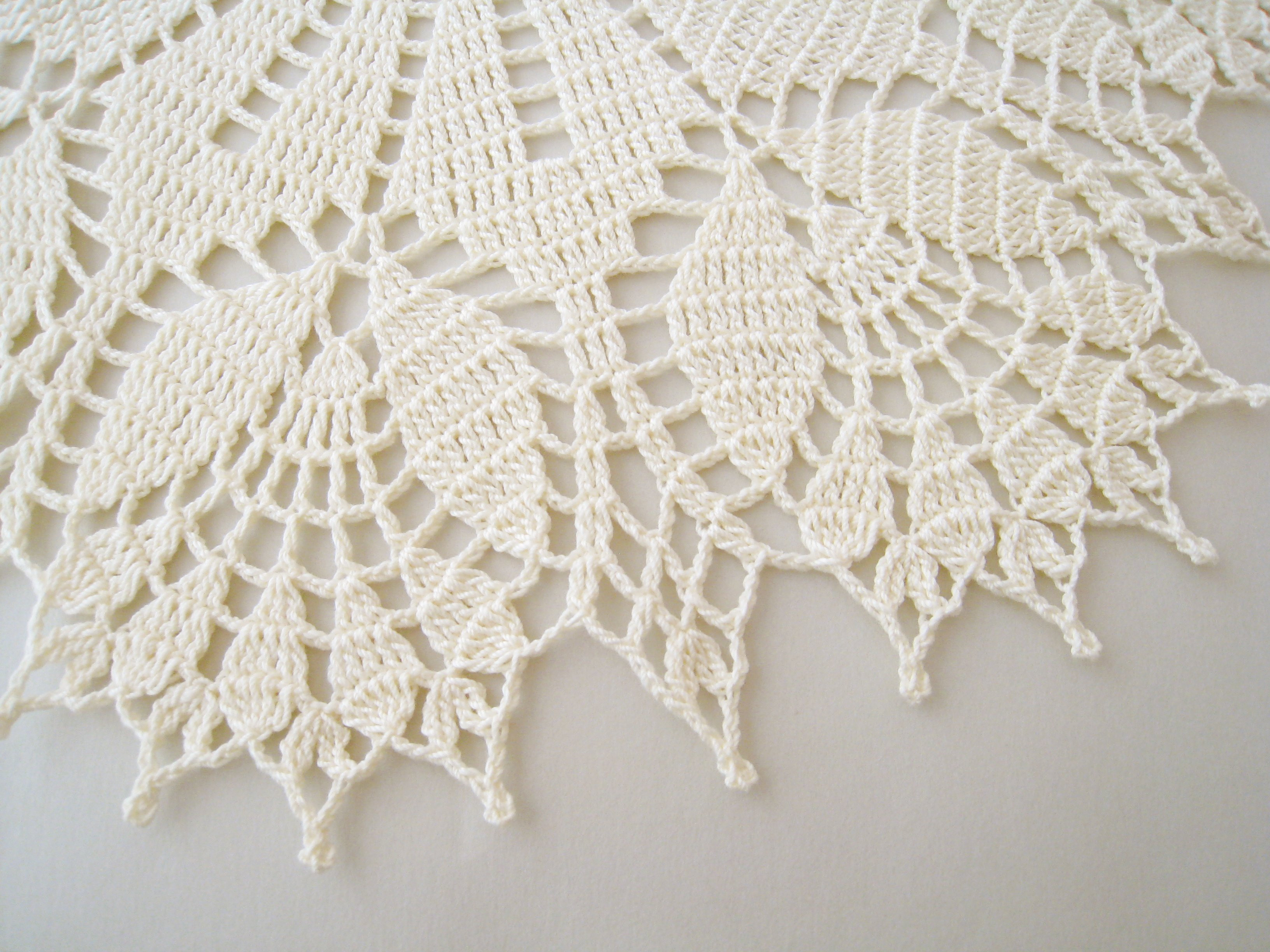 Doily Tablecloth Elegant Dosymphony Crochet Doily Cream Tulip Flower Lace Of Charming 49 Pictures Doily Tablecloth