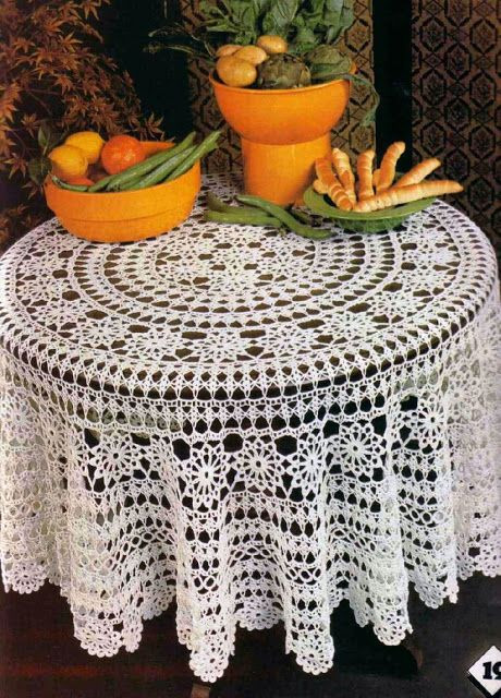 Doily Tablecloth Inspirational Crochet Round Tablecloth Has Free Pattern In English Of Charming 49 Pictures Doily Tablecloth