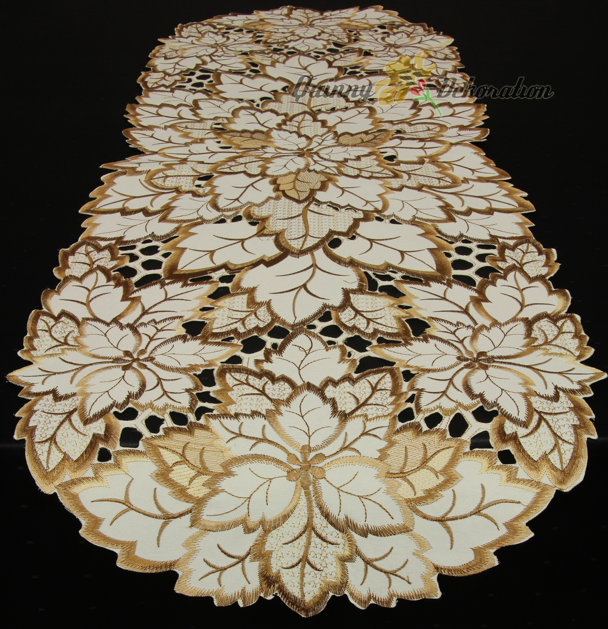 Doily Tablecloth Inspirational Leaf Doily Tablecloth Table Runner topper Cream Brown Of Charming 49 Pictures Doily Tablecloth
