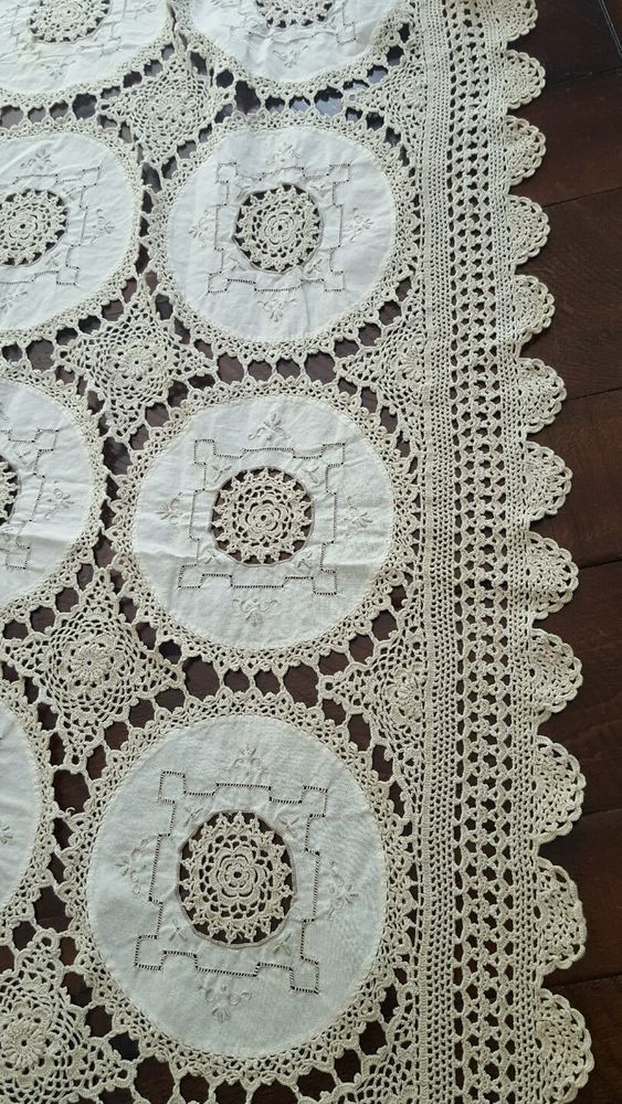 Doily Tablecloth Inspirational Vintage Antique Ecru Tablecloth Hand Made Lace Linen Of Charming 49 Pictures Doily Tablecloth