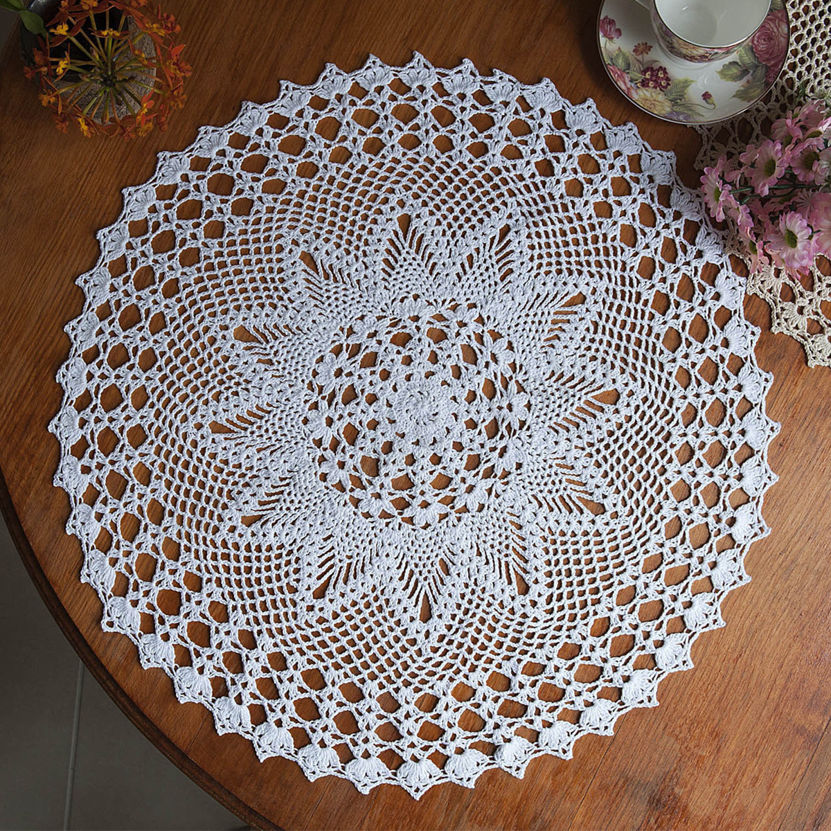 Doily Tablecloth Lovely 23 Round Hand Crochet Lace Doily Placemat Doilies Of Charming 49 Pictures Doily Tablecloth