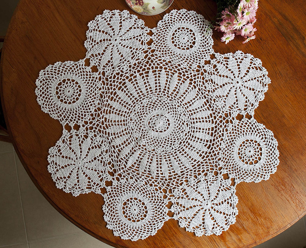 Doily Tablecloth Luxury Hand Crochet Lace Doily Doilies Mat Placemat topper Of Charming 49 Pictures Doily Tablecloth
