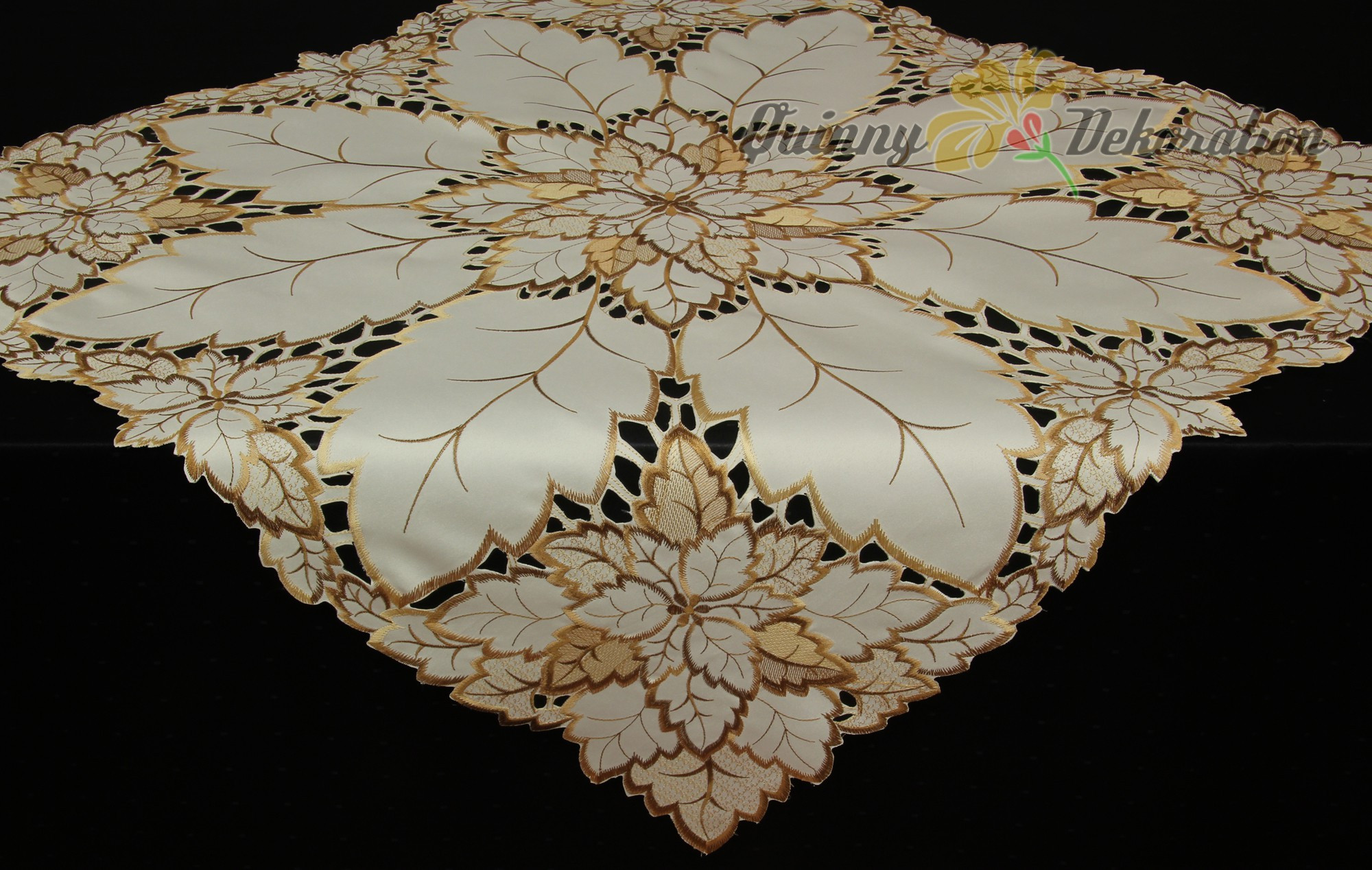Doily Tablecloth Luxury Leaf Doily Tablecloth Table Runner topper Cream Brown Of Charming 49 Pictures Doily Tablecloth