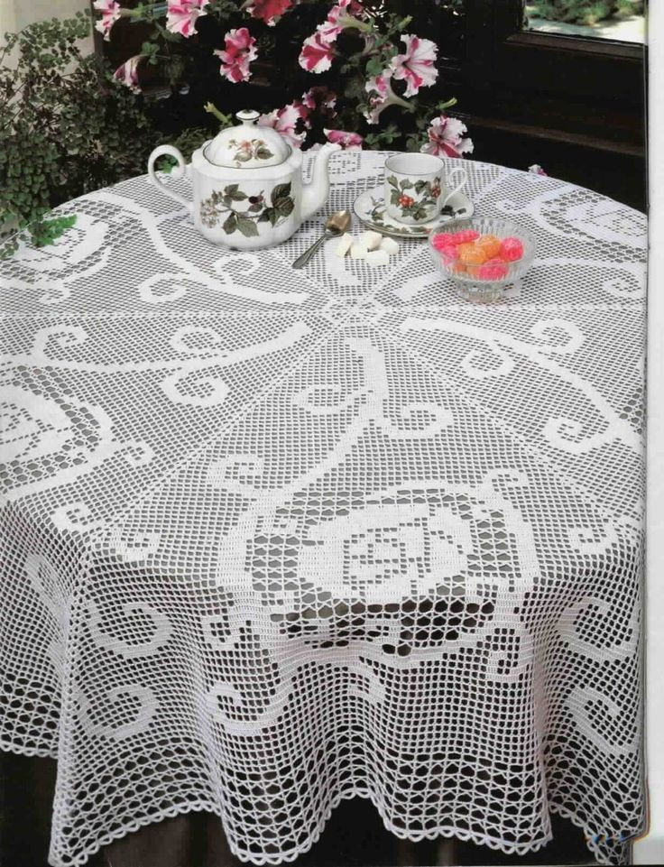 Doily Tablecloth New 1000 Images About Crochet Doilies and Tablecloths Made Of Charming 49 Pictures Doily Tablecloth