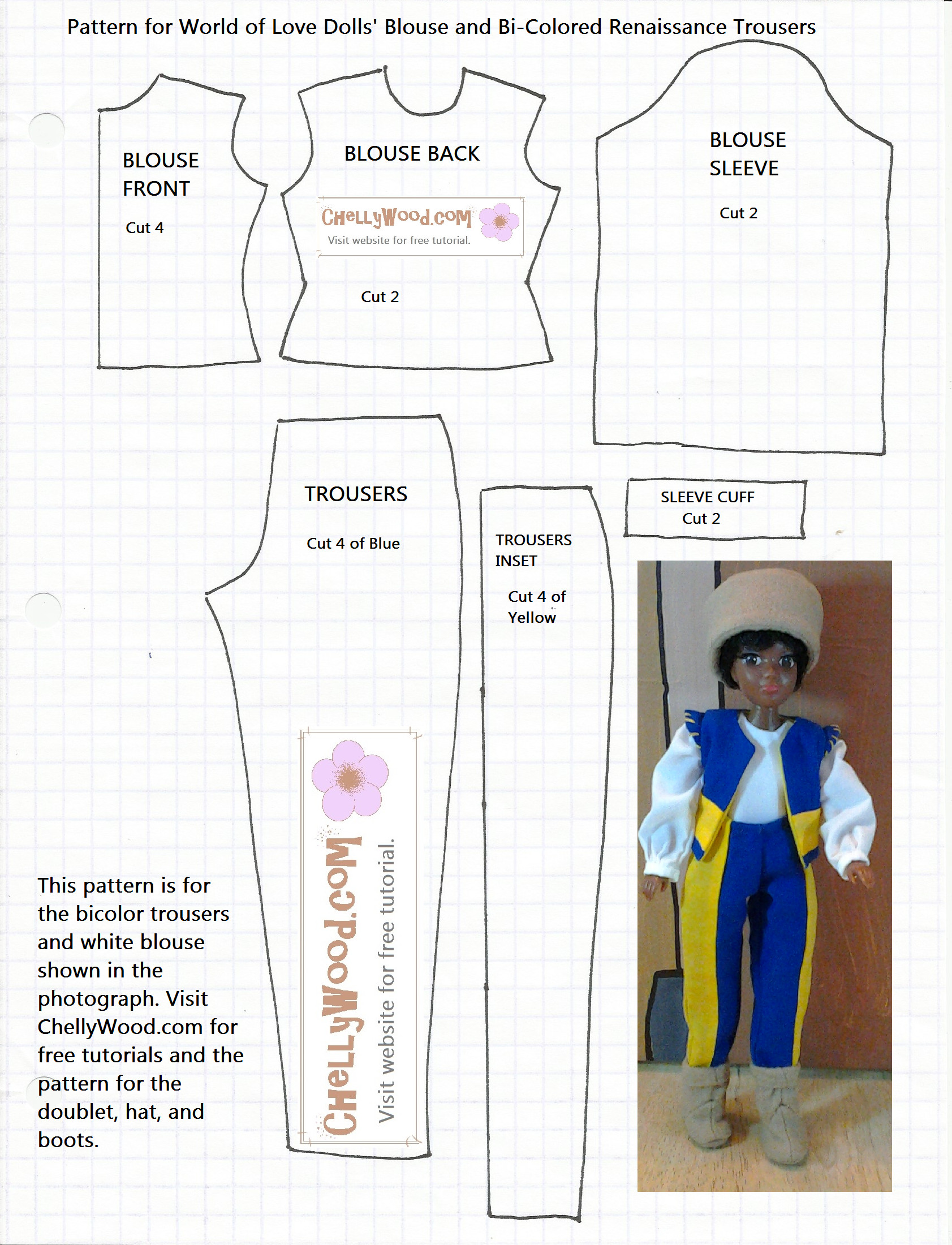 FREE Printable Barbie Doll Clothes Patterns – ChellyWood
