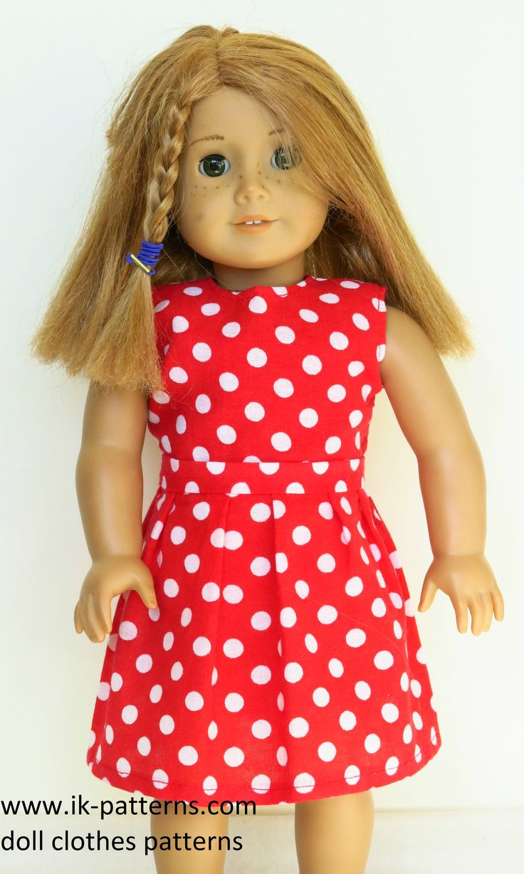Doll Clothes Patterns Elegant American Girl Doll In A Polka Dot Red & White Dress Dress Of Great 43 Models Doll Clothes Patterns
