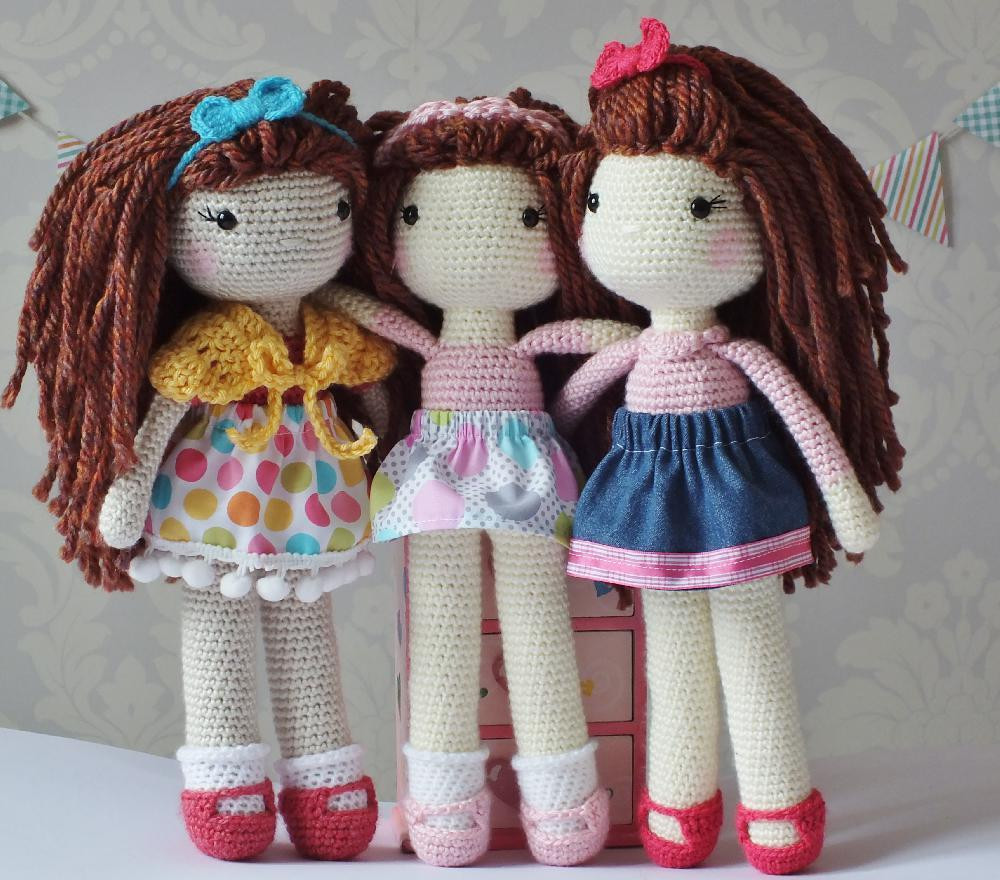 Doll Patterns Awesome Crochet Doll Crochet Pattern by Kornflakestew Of Doll Patterns Best Of Gingermelon Dolls My Felt Doll Knitted Outfit Patterns