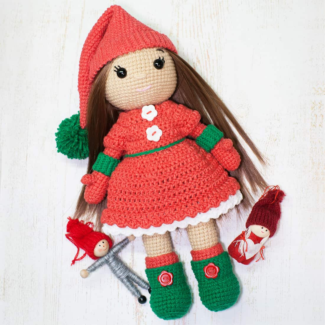 Doll Patterns New Christmas Doll Crochet Pattern Amigurumi today Of Doll Patterns Best Of Gingermelon Dolls My Felt Doll Knitted Outfit Patterns