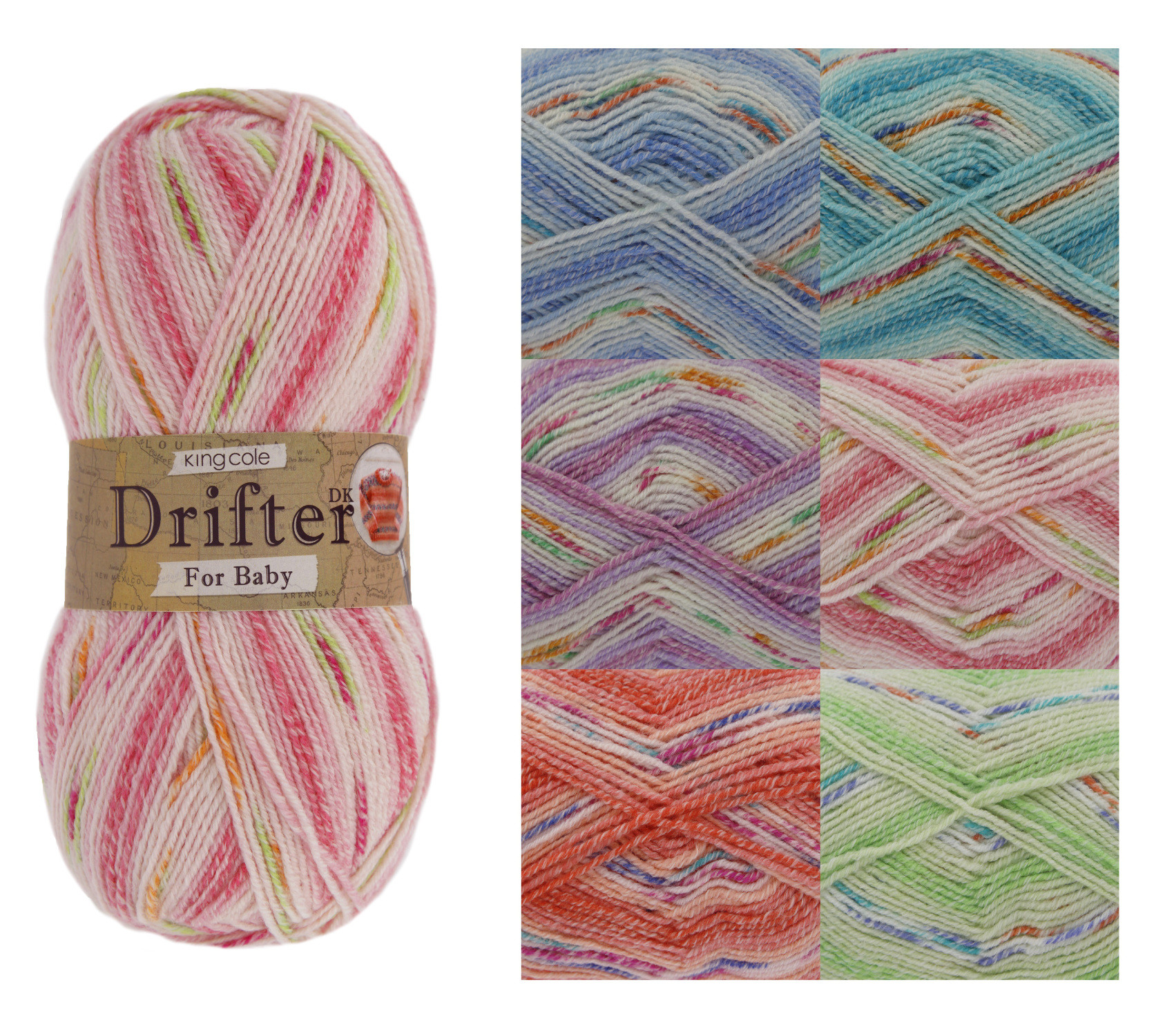 Double Knit Yarn Fresh King Cole Drifter Double Knit Yarn for Baby soft Acrylic Of Incredible 41 Models Double Knit Yarn
