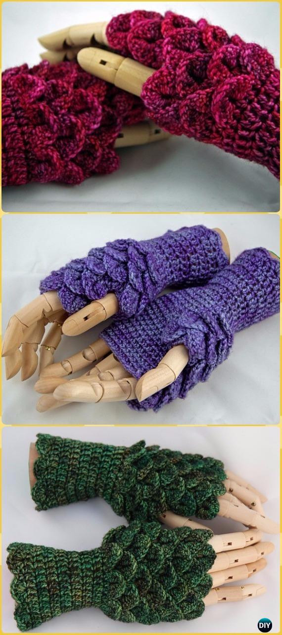 Dragon Scale Crochet Gloves Elegant Crochet Dragon Scale Crocodile Stitch Gloves Fingerless Of Dragon Scale Crochet Gloves Inspirational Dragon Scale Crocheted Gloves