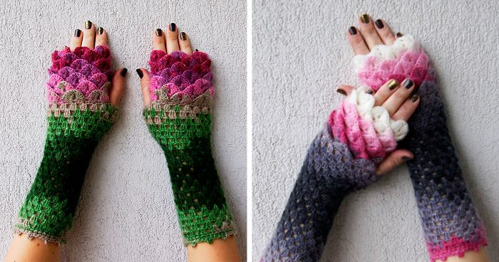 Dragon Scale Crochet Gloves Fresh these Dragon Gloves with Crochet Scales Will Protect You Of Dragon Scale Crochet Gloves New Dragon Gloves Dragon Scale Fingerless Gloves Long Crochet