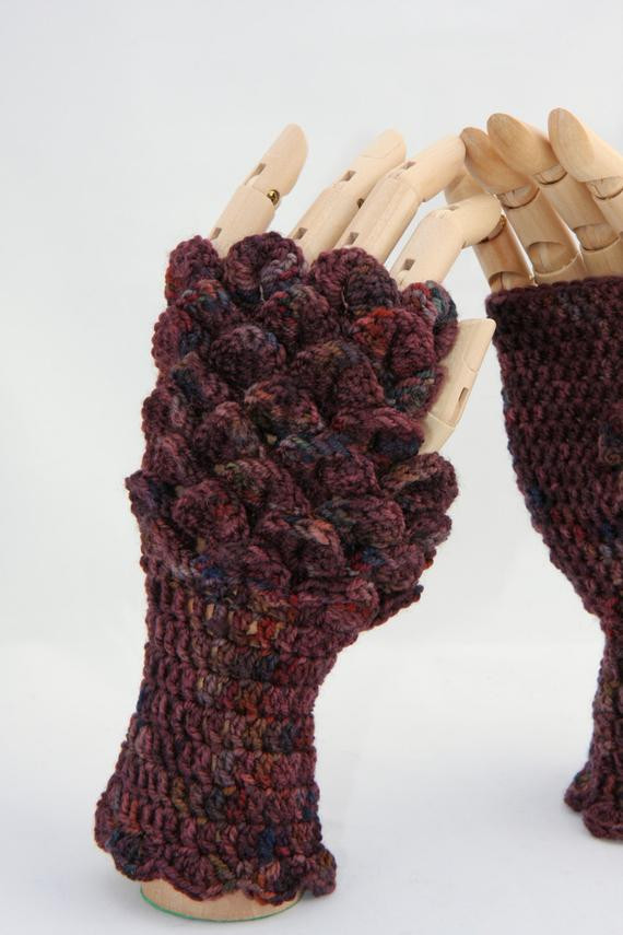 Dragon Scale Crochet Gloves Lovely Crochet Dragonscale Fingerless Gloves Copperbeech Of Dragon Scale Crochet Gloves Inspirational Dragon Scale Crocheted Gloves