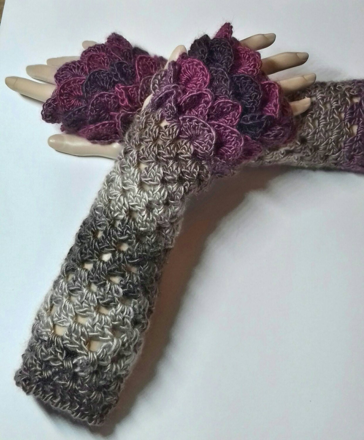 Dragon Scale Crochet Gloves Lovely Dragon Scale Ombre Glovesmermaid Cuffsdragon Gloves Of Dragon Scale Crochet Gloves New Dragon Gloves Dragon Scale Fingerless Gloves Long Crochet
