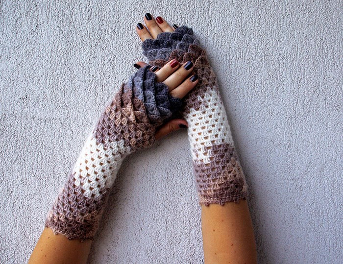 Dragon Scale Crochet Gloves Unique Dragon Scale Crocheted Gloves Of Dragon Scale Crochet Gloves New Dragon Gloves Dragon Scale Fingerless Gloves Long Crochet