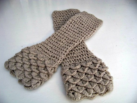 Dragon Scale Gloves Crochet Pattern Beautiful Crochet Arm Warmers Dragon Scales Size Small Elbow Length Of Adorable 43 Photos Dragon Scale Gloves Crochet Pattern