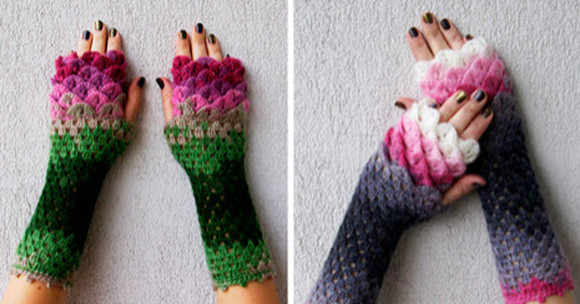 Dragon Gloves Have Crochet Scales To Keep You Warm This