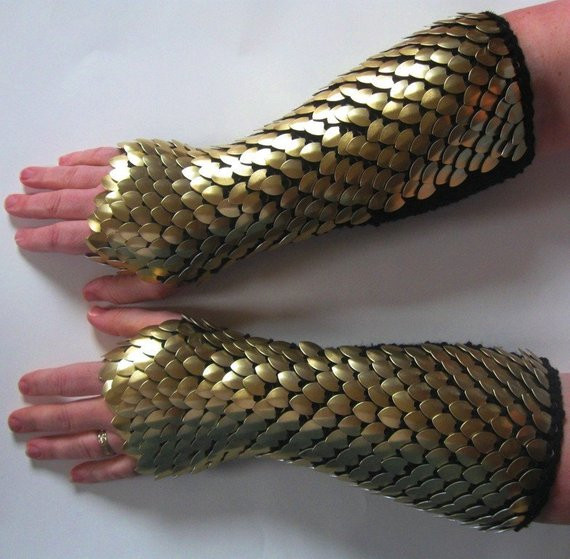 Dragon Scale Gloves Elegant Scale Mail Armor Gauntlets Knitted Elbow Length Gold Of Amazing 46 Pictures Dragon Scale Gloves