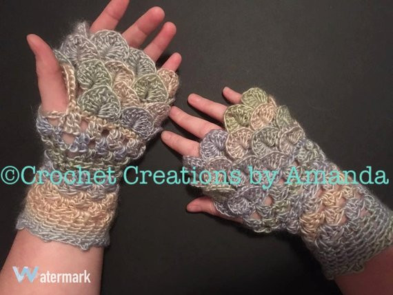 Dragon Scale Gloves Fresh Dragon Scale Fingerless Gloves Pdf Pattern Crocodile Stitch Of Amazing 46 Pictures Dragon Scale Gloves