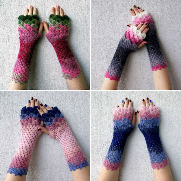 Winter is ing Better Get These Dragon Scale Crochet Gloves