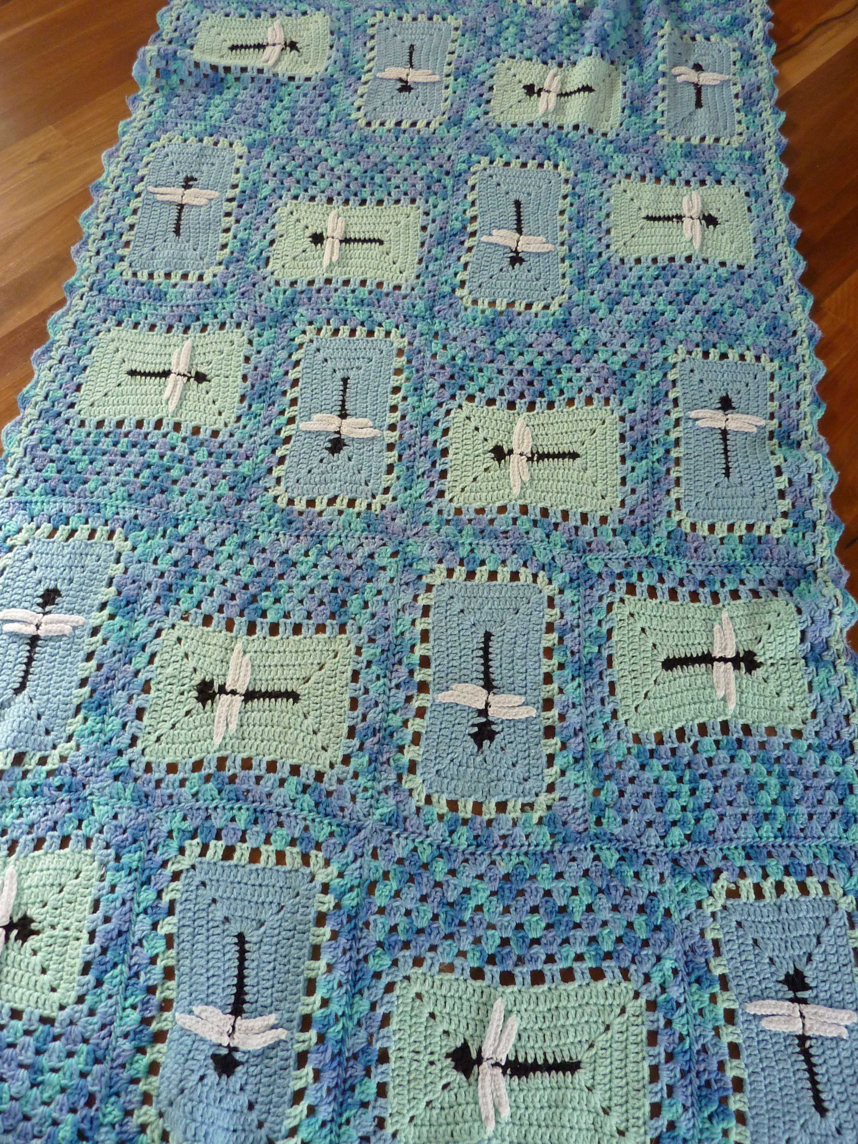 Dragonfly Crochet Pattern Awesome Crochet Dragonfly Afghan Throw Of Luxury 46 Pictures Dragonfly Crochet Pattern