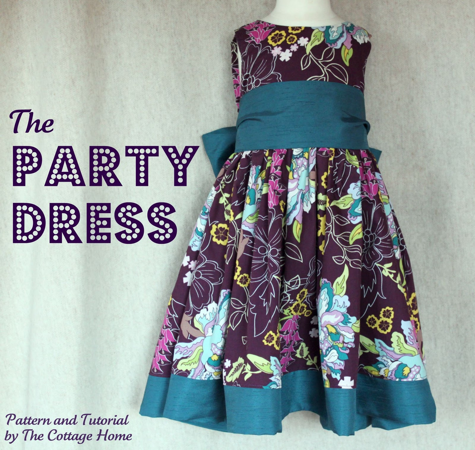 The Party Dress Printable Pattern and Tutorial The