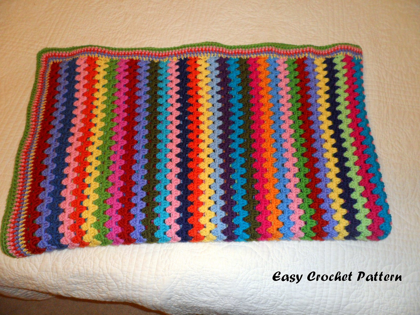 Easy Afghan Patterns Lovely Easy Crochet Pattern Granny Stripe Afghan Finish Of Top 42 Photos Easy Afghan Patterns