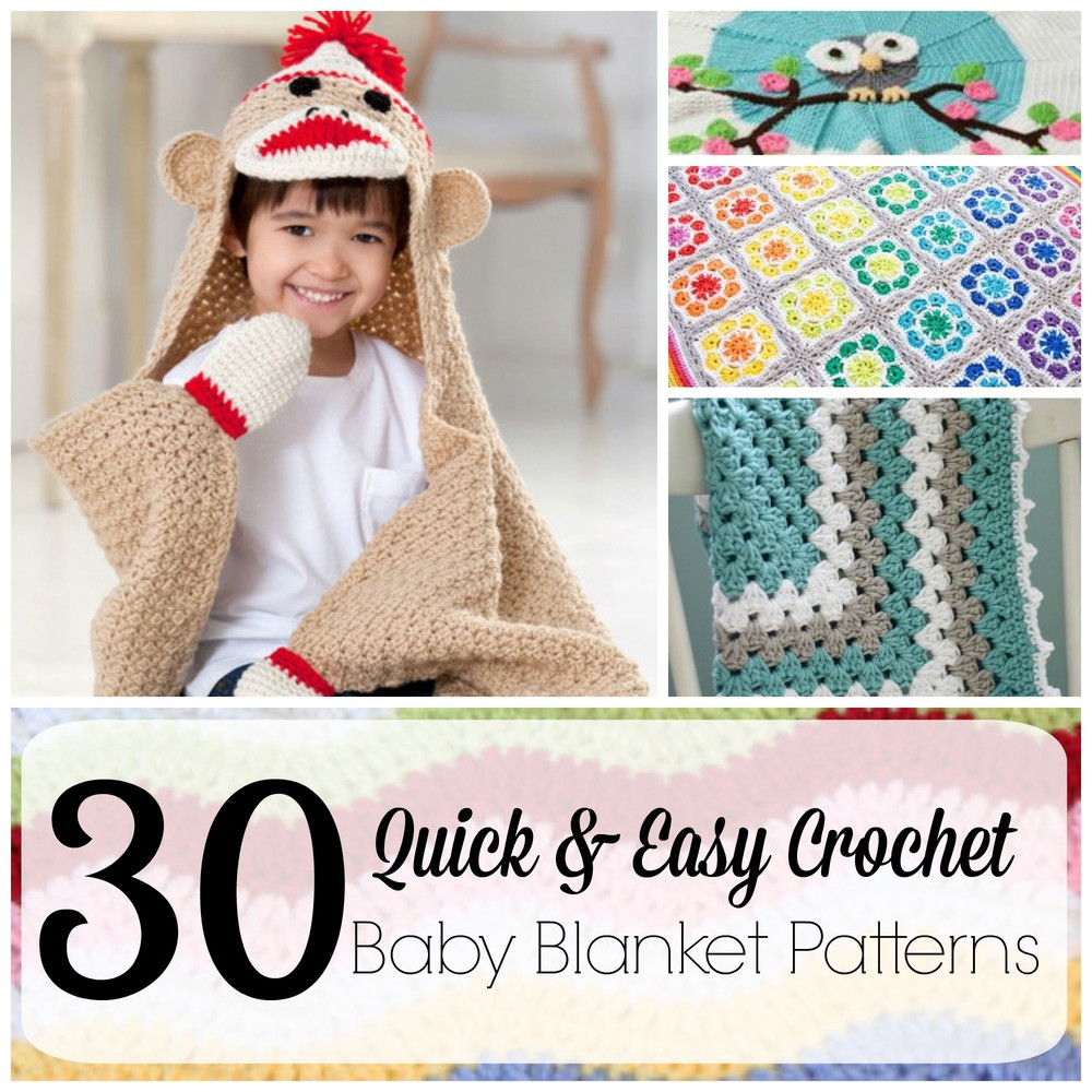 Easy Baby Afghan Crochet Patterns Inspirational 30 Quick and Easy Crochet Baby Blanket Patterns Of Unique 42 Ideas Easy Baby Afghan Crochet Patterns