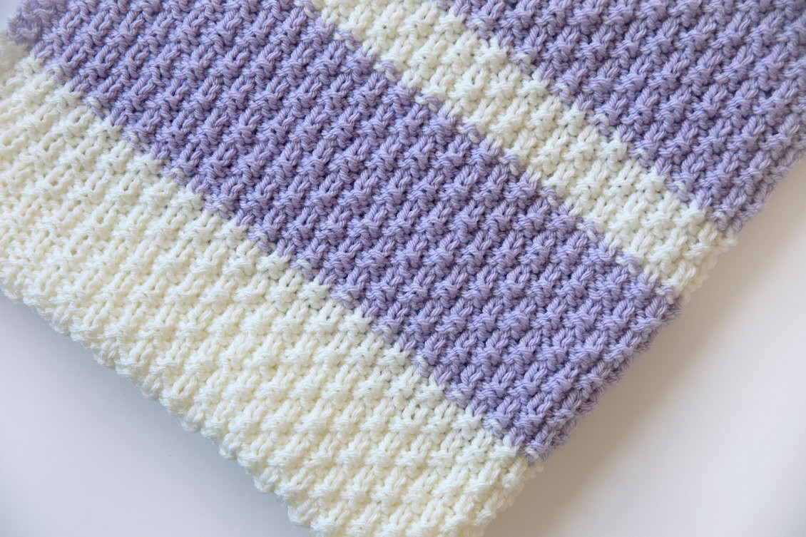 Leelee Knits Blog Archive Easy Knit Baby Blanket Pattern