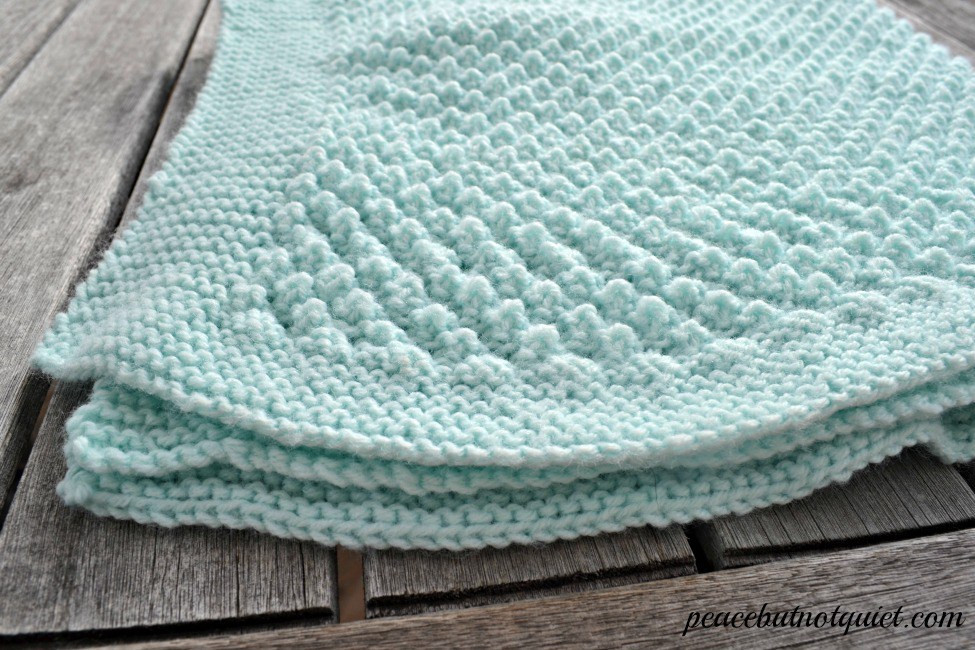 Easy Knitting Patterns Popcorn Baby Blanket